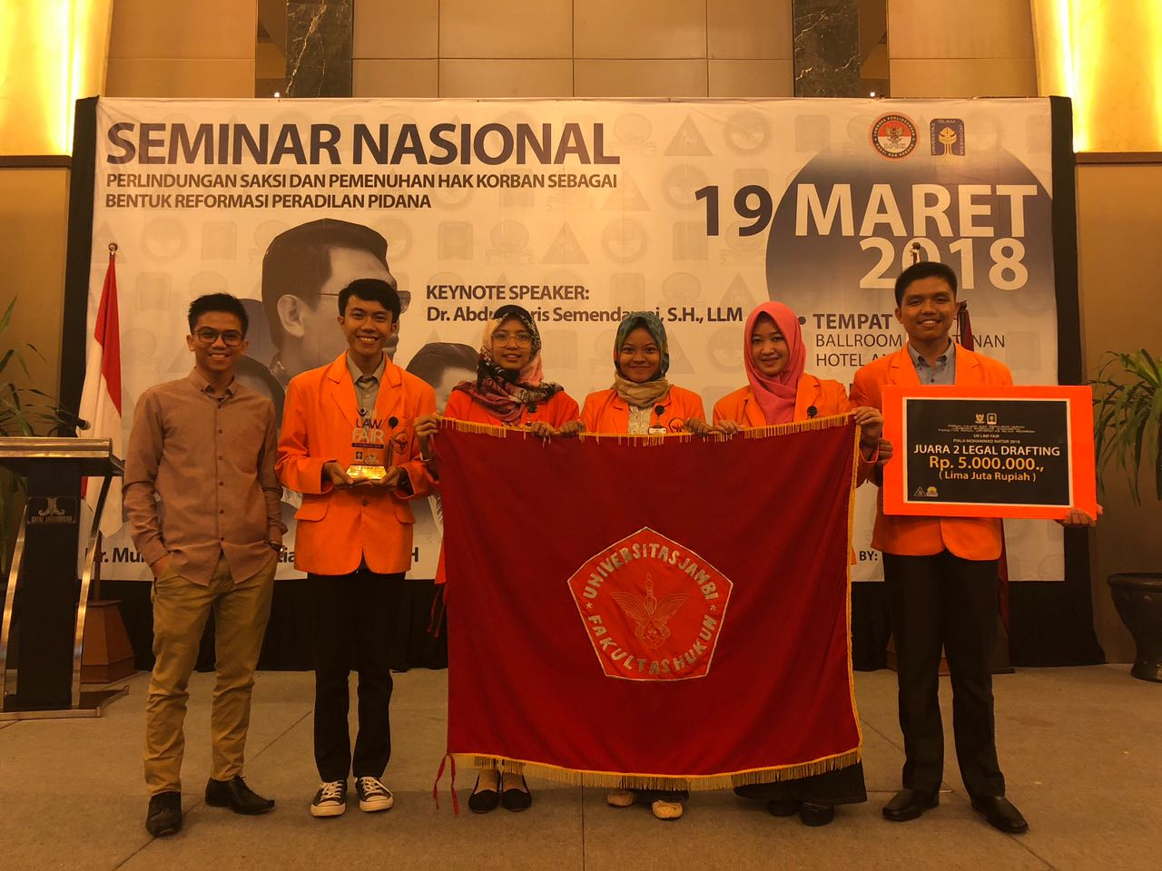 AGAIN, FH UNJA CARVED ACHIEVEMENT IN NATIONAL LEGISLATIVE DRAFTING COMPETITION BETWEEN HIGHER EDUCATION